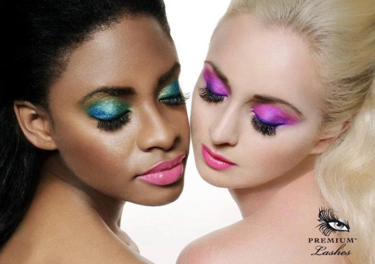 Glamour photos Gold Coast hair and makeup bright eyeshadow